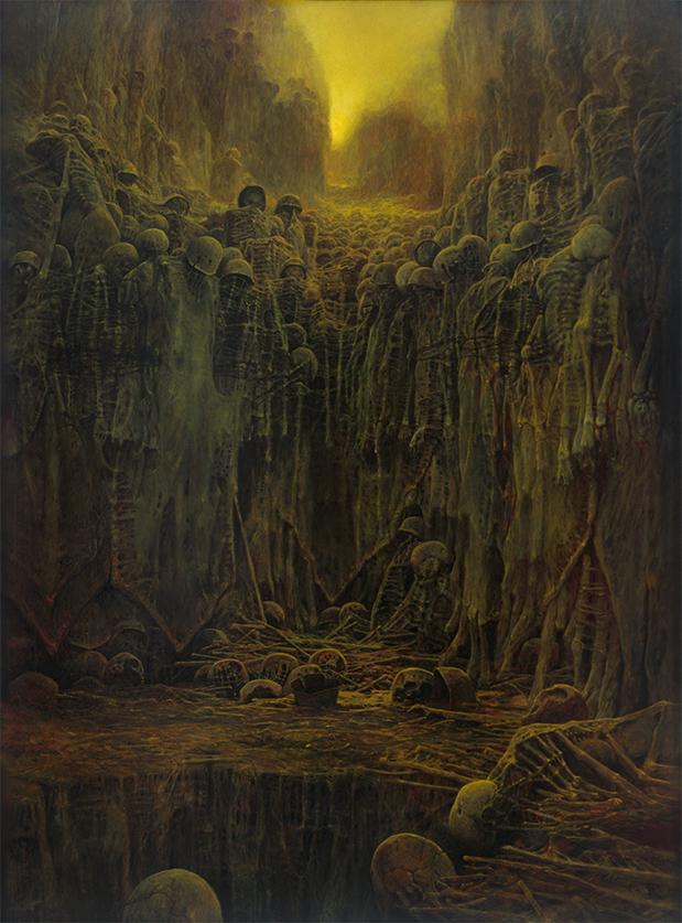 Zdzislaw Beksinski - painting AB84 - BeksStore.com
